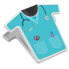 This Scrub-Shaped Magnetic Memo Clip makes a great gift for any healthcare professional or student who wears scrubs!
