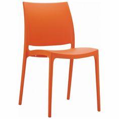Maya Dining Chair Orange (Set of 2)