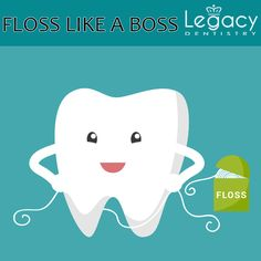 Chew on this - Fun tooth facts for a healthy mouth Flossing removes plaque between our teeth that our toothbrushes miss Book your appointment by calling us on 972-723-1148 or visit http://www.legacydentistry.com #legacydentistry #midlothian #texas
