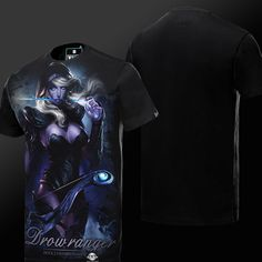 DOTA 2 Drow Ranger T-shirt Defense of the Ancients Hero Tee
