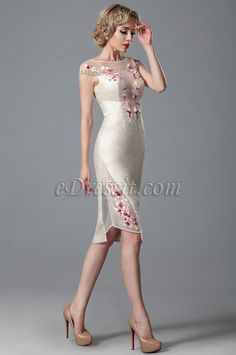 eDressit Cap Sleeves Formal Dress With Embroidery Details (03150613)