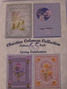 PATTERN PACK 65 - SPRING CELEBRATION BY CHRISTINE COLEMAN