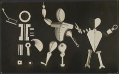 Bauhaus Bühne. Stage Set Design by Kurt Schmidt for Oskar Schlemmer. Eckner Atelier, German, about 1924