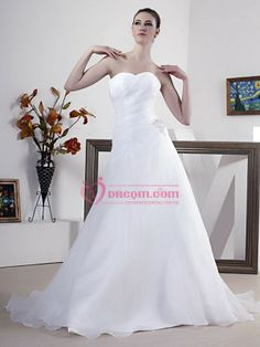 White Sweetheart Appliqued Dress for Appreciation