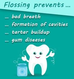 Health Benefits of Flossing Your Teeth dental health month activity