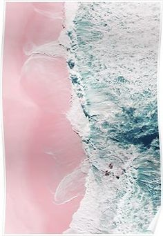 Sea of Love II Waves breaking around small rocks and in the same way rolling on a pink sand beach. Aerial beach and ocean photography. Plage Art Mural, Art Plage, Beach Artwork, Beach Wall Art, Silvester Trip, Minimalist Photos, Pink Sand Beach, Orange Beach, Blue Wall Decor