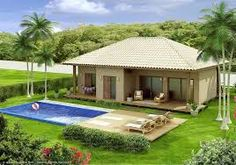 One of the most popular styles of home design in the United States right now is the traditional country house. Village House Design, Bungalow House Design, Village Houses, Small House Design, Country House Plans, Dream House Plans, Country Houses, Tiny House Cabin, Dream House Exterior