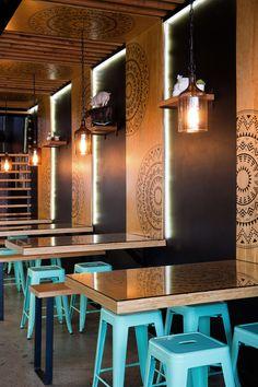 51 Ideas For Vintage Cafe Table Bistros Mexican Restaurant Design, Deco Restaurant, Luxury Restaurant, Restaurant Tables, Modern Restaurant, Restaurant Marketing, Restaurant Lighting, Restaurant Interior Design, Shop Interior Design
