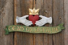 CEAD MILE FAILTE Wall Sign by SKIDWORKSNC on Etsy