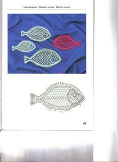 RODRIMAN ..... LRM --------------- Patrones comprados , regalados en encuentros y bajados de internet . Crochet Fish, Crochet Motif, Crochet Flowers, Crochet Patterns, Bobbin Lace Patterns, Lacemaking, Lace Heart, Lace Jewelry, Irish Crochet