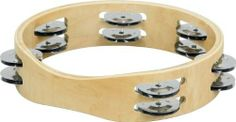 Sound Percussion Maple Tambourine 8 Inches by Sound Percussion. $13.99. Built-in handle provides hours of playing comfort. A great choice when looking to add extra textures and sounds to your drum set or percussion ensemble. The double row design has 12 silver jingle pairs for maximum volume. Attractive natural wood grain finish.. Save 26%!