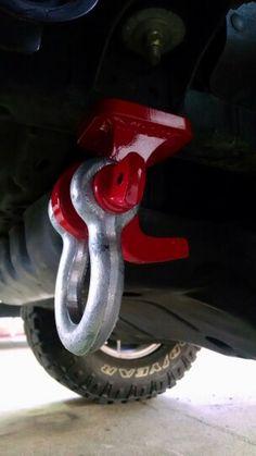 Custom tow hook w shackle Toyota Trd Pro, Toyota Surf, Toyota 4runner Trd, Tacoma Toyota, Jeep Cherokee Accessories, Jeep Accessories, Toyota Tundra Accessories, Truck Repair, Suzuki Jimny