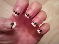 Bow's and Dot's - Nail Art Gallery by NAILS Magazine