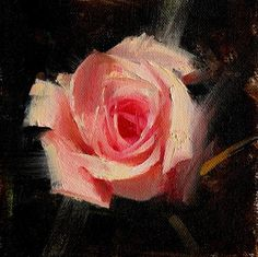 """Daily Paintworks - """"Rose study 2017 01"""" - Original Fine Art for Sale - © Qiang Huang"""