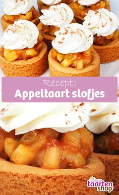 The tastiest apples deserve to be used in a delicious recipe. Make for example these mini apple pies with your favourite apples. Good Foods To Eat, Fabulous Foods, Dutch Recipes, Sweet Recipes, Rudolph's Bakery, Yummy Snacks, Yummy Food, Cake Festival, Mini Apple Pies