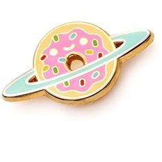 always hungry doughnut pin enamel pin lapel pin ❤ liked on Polyvore featuring jewelry, brooches, enamel jewelry, pin brooch, pin jewelry and enamel brooches