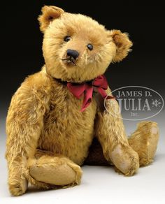 LOVELY AND EARLY STEIFF BEAR WITH BUTTON circa 1915...be still my heart...