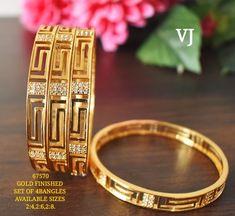 Plain Gold Bangles, Solid Gold Bangle, Gold Bangles Design, Gold Jewellery Design, Gold Rings Jewelry, Silver Bangle Bracelets, Earrings Handmade, Glitter, Blouse