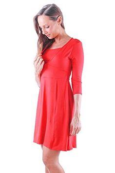 40c16a3bf5f Annee Matthew Laura Maternity Nursing Dress - Black - X-Large at Amazon  Women s Clothing store