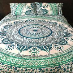 Mandala quilt cover 2 matching pillowcases by TheFoxAndTheMermaid
