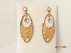 Sterling silver, 18K gold plated, moon stone, CZ, earrings, hhorwitz.com