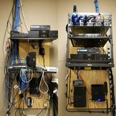 Network Closet before and after #itthings #cat6 #rackmount #networkcloset…
