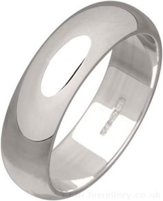 6mm Silver Wedding Ring made to order in hallmarked sterling silver.