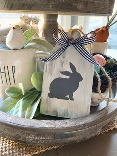 easter decorations 155303887182614282 - Easter Signs / Easter Decor / Wood Tags / Wooden Tag / Tag Sign / Easter Tag / Bunny Sign / Tiered T Source by etsy Spring Crafts, Holiday Crafts, Wood Tags, Diy Easter Decorations, Dollar Tree Crafts, Easter Celebration, Hoppy Easter, Tag Tag, Easter Party