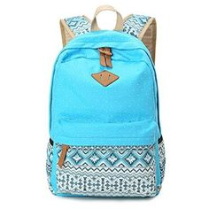 a527d1b30c Amazon.com  Hitop Geometry Dot Casual Canvas Backpack Bag