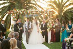 Bel Air Bay Club Wedding by Michael Segal - enfianced  FLORAL ARCH INSPIRATION