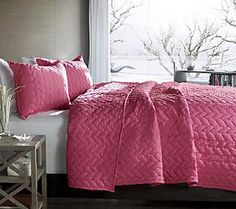 Avani 2-Piece Pink Twin Quilt Set by Lush Decor