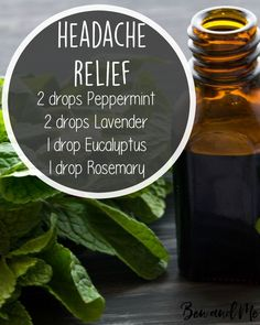 I suffer frequently from several types of headaches — migraines, sinus, and tension. When I'm struggling with any of those, these are my favorite oils to have going in the diffuser. Add this essential oil blend to your diffuser (you can also mix it with a Essential Oil Diffuser Blends, Essential Oil Uses, Natural Essential Oils, Migraine Essential Oil Blend, Essential Oils For Headaches, Mixing Essential Oils, Essential Oil Carrier Oils, Essential Oils Energy, Essential Oil Recipies