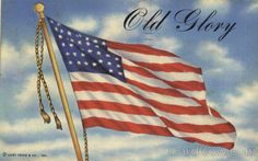 Postcard WWII American Flag Soldier Writing to Sister - Dear Sis Don't Worry (m) Little Rock, Liberty Tattoo, American Flag Art, Patriotic Pictures, Us Flags, Old Glory, God Bless America, Military Art, Vintage Postcards
