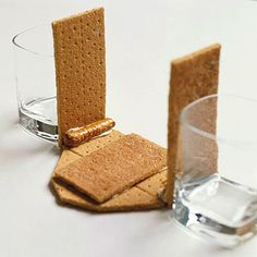 Assemble the Barn: Step 1.  barn made out ofgraham crackers