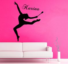 Wall Decals Sport Girl Personalized Name Gymnast Vinyl Sticker Decal Decor KG713 #Fashion