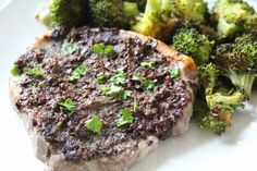 We love pork in our house but I'm the only one who loves Olives...I could eat them everyday!  I made these pork chops with an olive tapenade years ago and