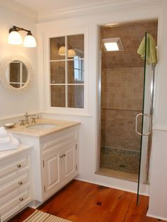 Love the window in walk in shower for more lighting.