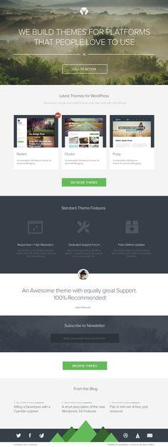 Homepage design (WIP) by Codestag