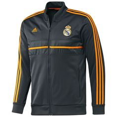 adidas Real Madrid 2013 - 2014 SOCCER Track Jacket Black   Orange Brand New c017e3b22e69b