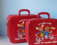 1983 The Get Along Gang Red Vinyl Suitecase set of 2. - http://oleantravel.com/1983-the-get-along-gang-red-vinyl-suitecase-set-of-2