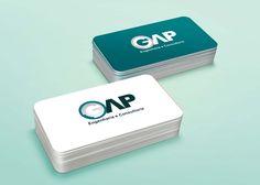 Desenvolvimento de cartões de visita para o cliente: GAP Engenharia e Consultoria