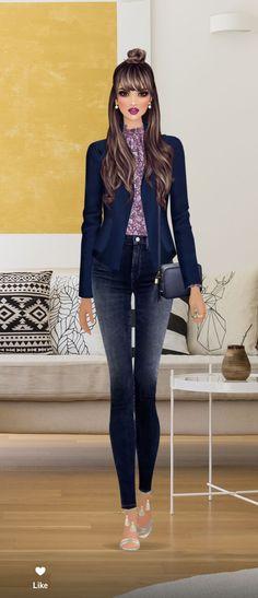 Covet Fashion, Fashion Art, Fashion Design, Outfit Office, Girly Pictures, Digital Portrait, Barbie Dress, Fashion Games, Fashion Illustrations