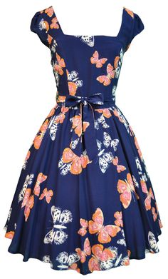 Butterfly Print Swing Dress ♥ what a sweet little thang