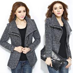 2014 Womens Winter Slim Long Sleeve Jacket Coat Outwear Parka Trench Windbreaker #Other #BasicCoat