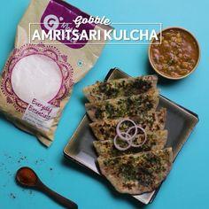 """Gobble on Instagram: """"Amritsari Kulcha - Looks like we have your attention for dinner! // @grofers  Chef - @varsha2939"""""""
