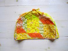 1970's Sunny Yellow Patchwork Toaster Cover. Willow Moon Vintage - Etsy.