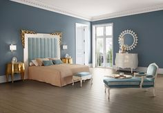 love the blue in this room!