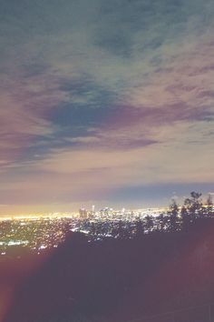 lights mine skyline canon night city city lights Los Angeles view california LA vertical griffith observatory