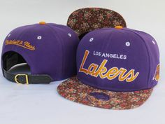NBA Los Angeles Lakers Snapback Hats Mitchell And Ness snakeskin Flower 326 8013|only US$8.90