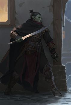 "quarkmaster: ""Assassin Character portrait for Pathfinder: Kingmaker by Owlcat … - Character Design Club 2019 Dark Fantasy, Fantasy Rpg, Medieval Fantasy, Fantasy Artwork, Fantasy Character Design, Character Design Inspiration, Character Concept, Character Art, Rogue Character"